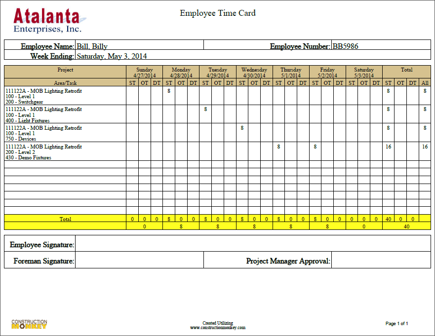 Automated Time Collection Process